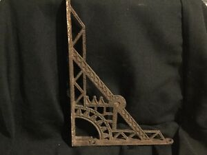 Antique Cast Iron Metal Decorative Bracket Corner Shelf Part