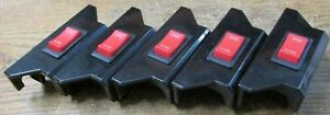 Unused Nos Lot Of 5 Rdcc 0755 962101 Rocker Switch With Bracket