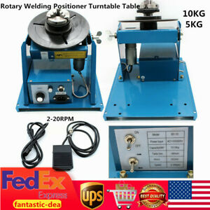 10kg Rotary Welding Positioner Turntable Table With 2 5 Chuck 2 20rpm 110v Usa