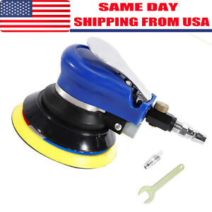 New 5 Air Palm Orbital Sander Random Hand Sanding Pneumatic Round Tools