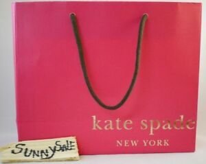 Kate Spade Specialty Store Paper Shopping Gift Bag Pink Orange 10 X 8 5 X 4