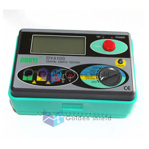 Dy4100 Digital Earth Ground Resistance Tester Meter High performance