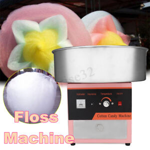 220v Electric Cotton Candy Machine Floss Maker Commercial Sweet Sugar Cotton New