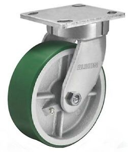 Albion 310pi06501s 6 Diameter Polyurethane On Cast Iron Wheel Contender King