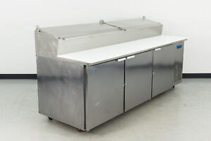 Used Mccall Pta 3 94 3 Door Refrigerated Pizza Prep Table