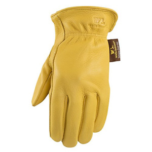 Wells Lamont Deerskin Driver Gloves Gold Medium Model 962