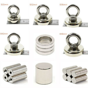 Round Disc Ring Hole Strong Magnet Rare earth Neodymium Fishing Magnetic Eyebolt