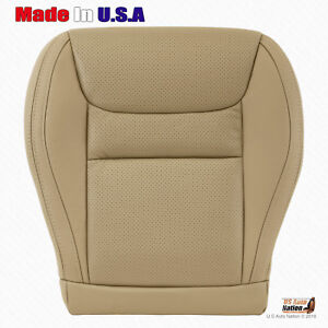 Fits 2002 Toyota Highlander Driver Bottom Perforated Leather Tan Seat Cover
