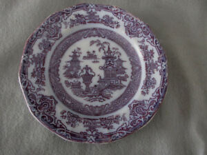 Podmore Walker Co Stoneware Temple Flow Mulberry Blue Dinner Plate 7 3 4