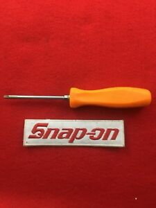 Snap On Torx Torque Screwdriver Orange Hard Handle T15 Sdtx315 Good Condition