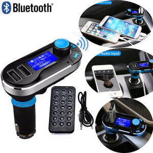 Bluetooth Car Fm Transmitter Mp3 Player Radio Adapter Kit Charger W Lcd Remote