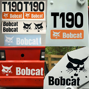 Bobcat T190 set Of 7 Skid Steer Replacement Aftermarket Vinyl Decal Sticker