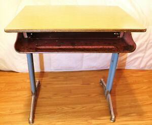 Vintage Child S Pocket School Desk With Chair American Seating Company