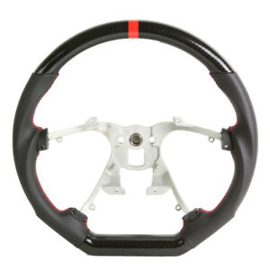 Performance Steering Wheel 2007 2013 Cadillac Escalade Black Leather W Carbon