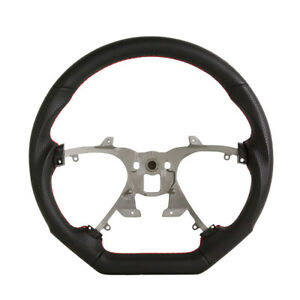 Performance Steering Wheel For 2007 2013 Cadillac Escalade Black W Red Stitch