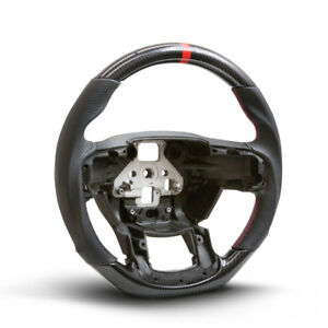 Performance Steering Wheel For 15 16 17 Ford F150 Hydro Carbon leather red