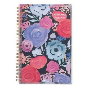 At a glance Academic Planners 8 X 4 7 8 Midnight Rose 2018 2019 aag1101201a