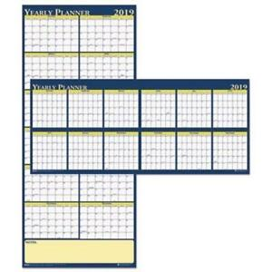 House Of Doolittle Reversible Yearly Wall Planner 60 X 26 2019 hod3974