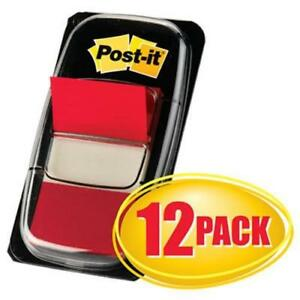Post it Flags In Dispensers Red 12 50 Flag Dispensers mmm680rd12