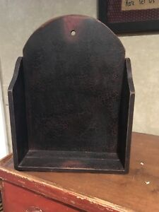 Black Crackle Painted Plate Shelf By Ragoon House Nwt