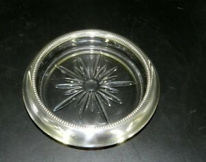 Vtg Frank Whiting Pat 07 Sterling Silver 5 5 Wine Bottle Coaster Very Nice