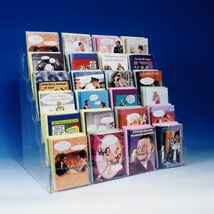 Literature Acrylic Counter Display Rack Stand 6tier 24 Made In Usa
