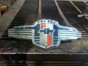Early Chevy Truck Hood Emblem Chrome