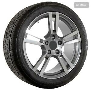 20 Inch Porsche Wheels Gunmetal With Machined Accents Rims With Tires 165