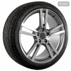 22 Inch Porsche Oem Factory Style Wheels Rims Tires Package 165