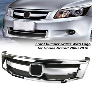 Front Bumper Sport Model Chrome Grille Grill For Honda Accord 2008 2010