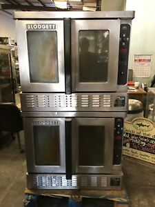 Dfg Blodgett Double Stack Full Size Natural Gas Convection Oven 38 x37 x71