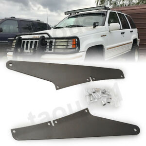 54 Inch Curved Led Light Bar Roof A Pillar Mounts For Jeep Grand Cherokee Wk