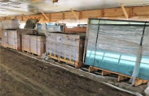 Blue Glass Panels Insulated Tempered New Surplus will Sell By The Crate