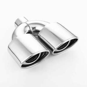 Twin Resonated 4 5 x3 35 Oval Outlet Exhaust Tip 2 25 In 304 Stainless Steel