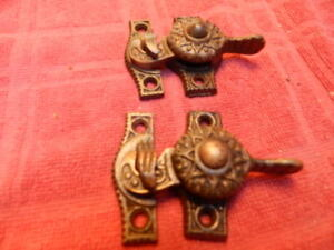 Pair Of Eastlake Victorian Sash Window Locks Cast Iron
