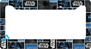 Star Wars Darth Vader Blue And Black License Plate Frame Aluminum Car Auto