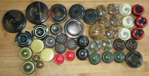 Lot 40 Antique Victorian Art Deco Era Celluloid Tight Top Bubble Buttons