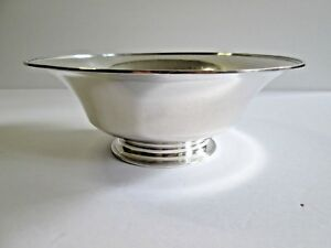 Tiffany Co Sterling Silver Footed Bowl 8 1 2