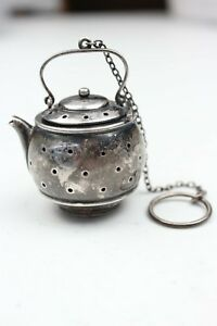Vintage Sterling Silver The Metcalf Co Tea Pot Shaped Tea Strainer