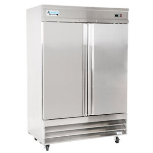 54 Stainless Steel 2 door Upright Commercial Kitchen Reach in Freezer