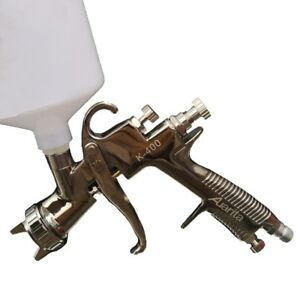 1 4mm Gravity Feed Air Paint Spray Gun Set With 600cc Cup For Painting Cars