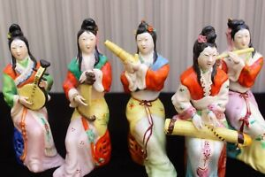 Chinese Women Playing Traditional Musical Instruments