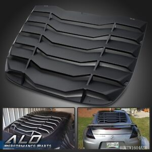 For 2009 2019 Nissan 370z 3 7l Matte Black Rear Windshiled Louvers Cover Black