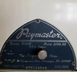 Vintage Paymaster Series X 550 Check Writer