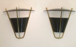 Interior And Exterior Sconce Lamp Pair By Lightolier Vintage Modernist