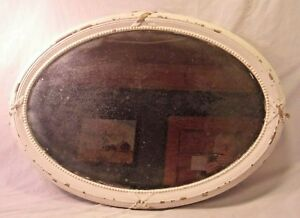 Large Antique Oval Frame With Mirror 23 1 2 X 33 1 4 Mirror 19 1 2 X 29 1 4