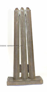 Genuine Antique 3 Tube 1800 S Tin Candle Mold Excellent Condition 1002