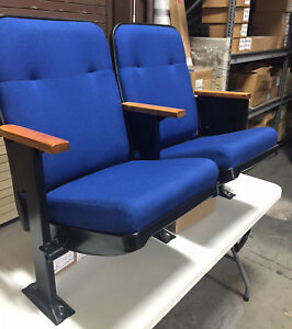 52 Used Auditorium Theater Seating Cinema Movie Chairs Seats 100 Each