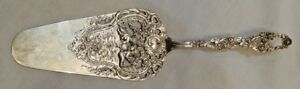 Antique German 800 Silver Repousse Cake Server By J K Co