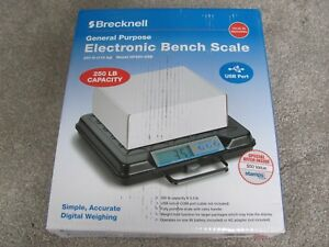 Brand New Brecknell Gp250 usb Electronic Portable Bench Scale 250lb Capacity